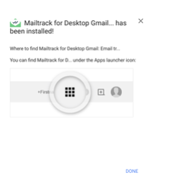 Mailtrack has been installed